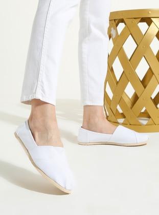 White - Ecru - Sport - Casual - Sports Shoes