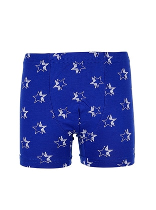 Cotton - Blue - Saxe - Kids Underwear
