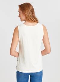 White - Crew neck - Undershirt