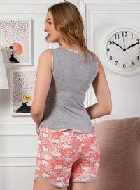 Gray - Cotton - Short Set