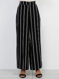 Black - Stripe - Culottes