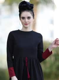 Bordo - Astarsız Kumaş - Elbise