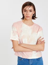 Pink - Crew neck - T-Shirt