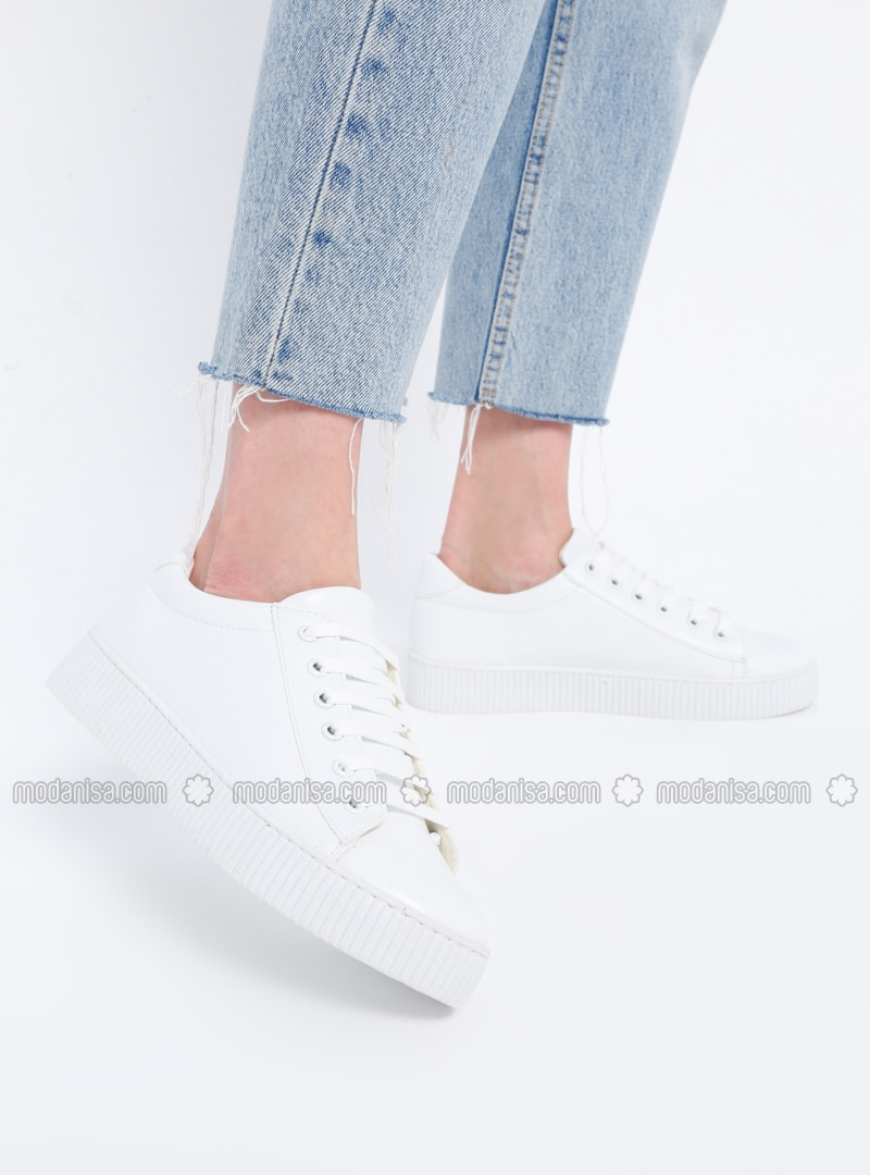 White - Sport - Casual - Shoes