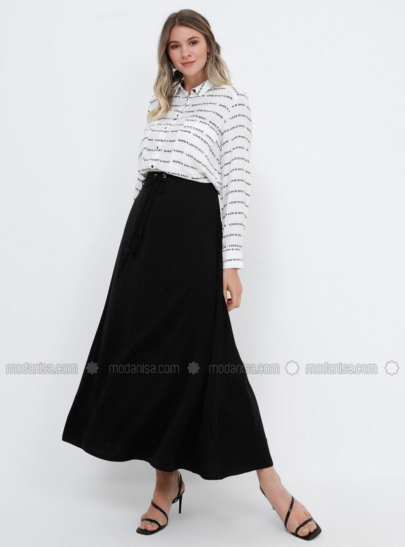 Black - Fully Lined - Plus Size Skirt