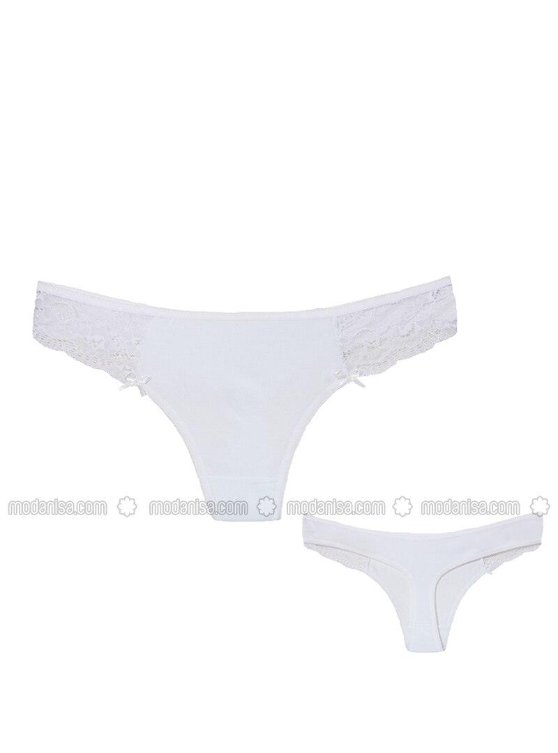 White - Cotton - Panties