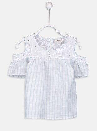 Blue - Stripe - Girls` Shirt
