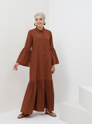 - Point Collar - Unlined - Viscose - Dress
