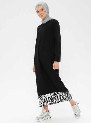 Black -  - Loungewear Dresses - Siyah inci