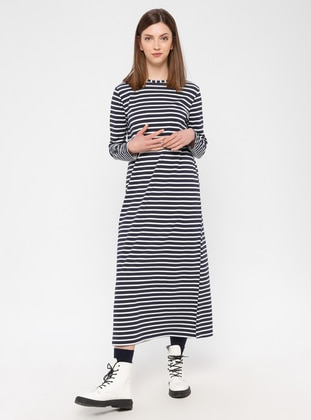 Multi - Cotton - Loungewear Dresses - Siyah inci