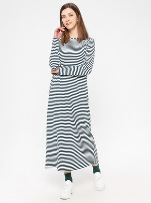 Multi - Cotton - Loungewear Dresses - Siyah inci