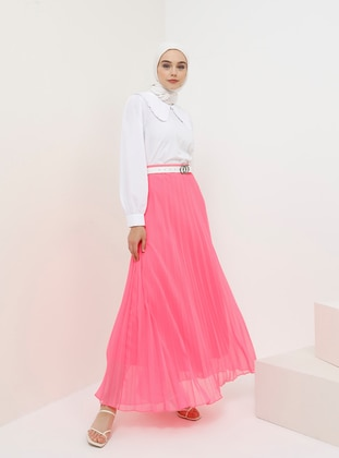 Pink - Fully Lined - Skirt