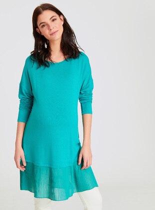 Turquoise - Maternity Blouses Shirts - LC WAIKIKI