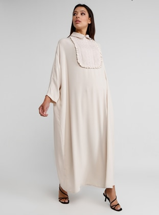 Ecru - Point Collar - Dress