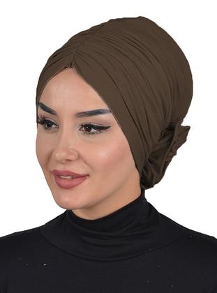 Brown - Plain - Cotton - Bonnet