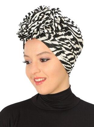 Black - White - Plain - Cotton - Bonnet