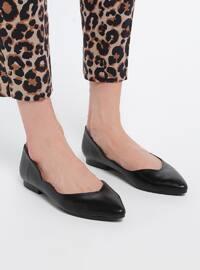 Black - Flat - Flat Shoes
