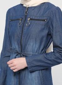 Blue - Unlined - Cotton - Denim - Suit