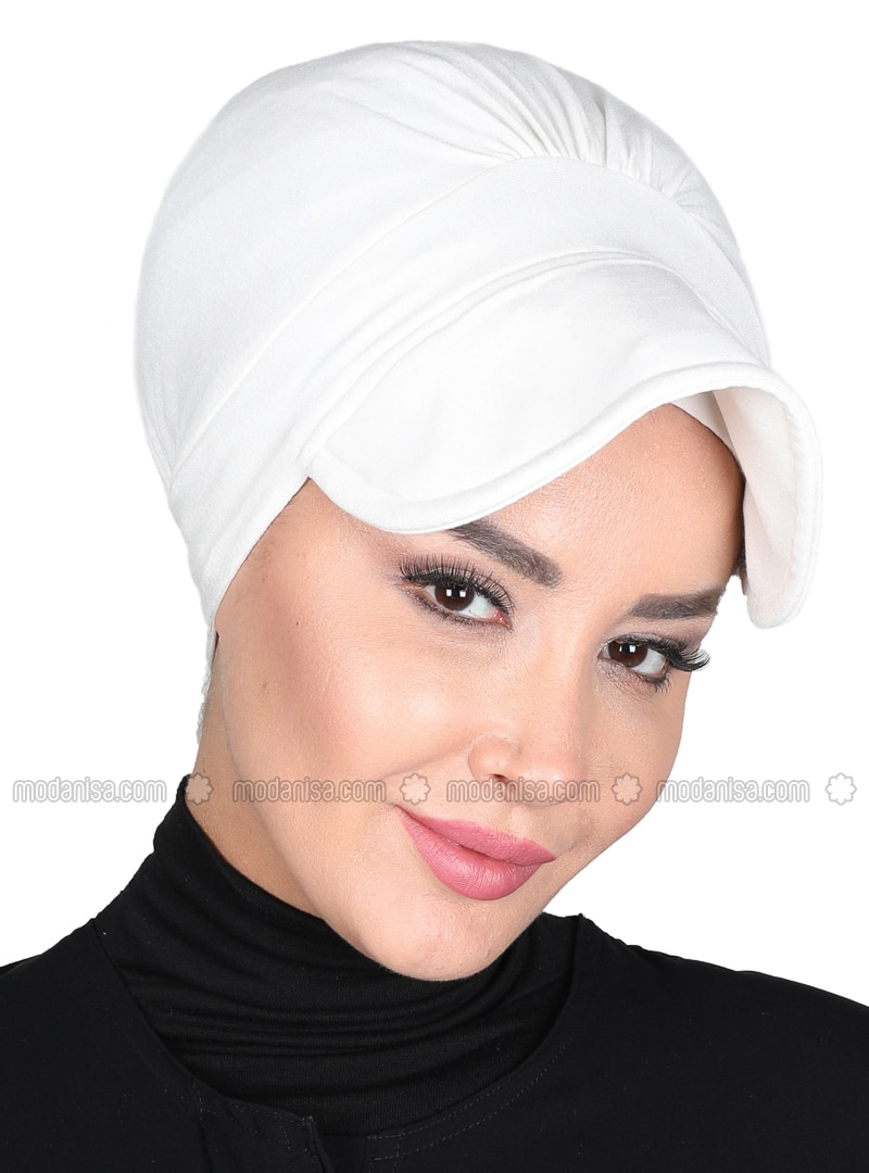 Cream - Plain - Cotton - Bonnet