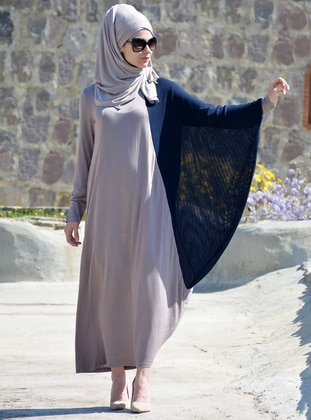 Navy Blue - Minc - Unlined - Viscose - Dress