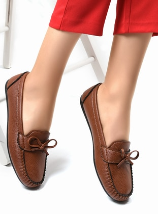 Tan - Casual - Flat Shoes