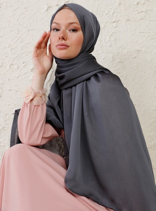 Anthracite - Plain - Shawl - Şal