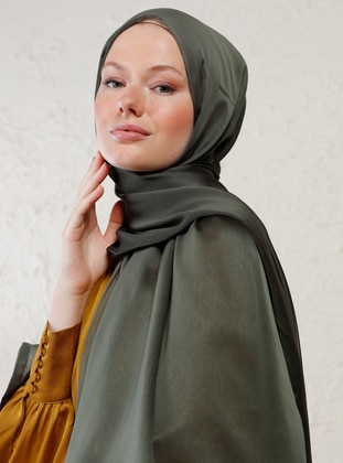 Khaki - Two-way - Plain - Shawl