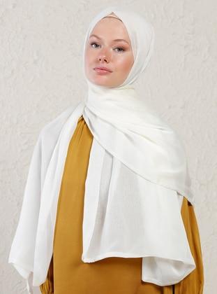 White - Two-way - Plain - Shawl - Şal