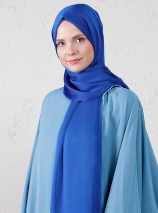 Blue - Two-way - Plain - Shawl