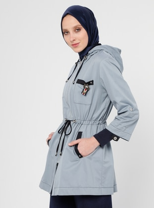 Blue - Unlined - Trench Coat