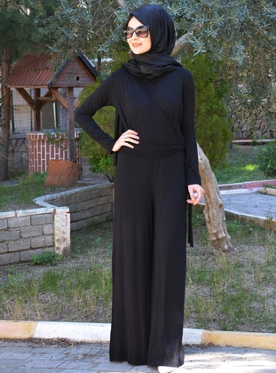 Black - Viscose - Jumpsuit