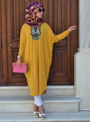 Yellow - Viscose - Tunic