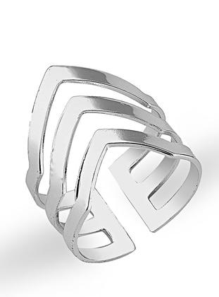 Multi - Silver tone - Ring