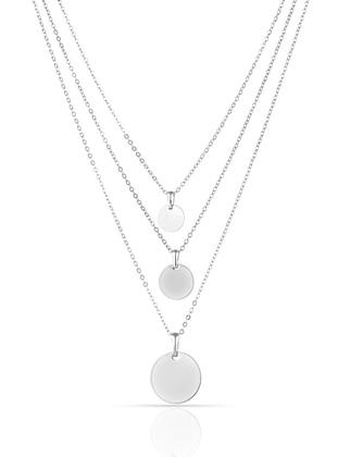 Multi - Silver tone - Necklace