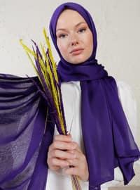 Purple - Two-way - Plain - Shawl