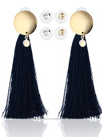 Navy Blue - Multi - Earring