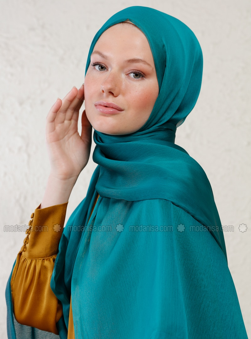 Green - Two-way - Plain - Shawl