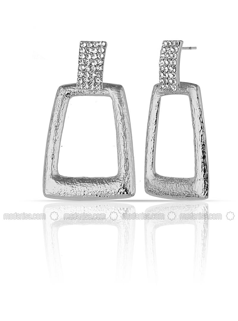 Multi - Silver tone - Earring