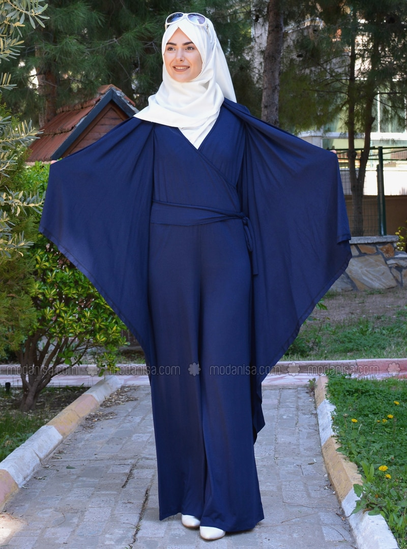 Navy Blue - Viscose - Jumpsuit