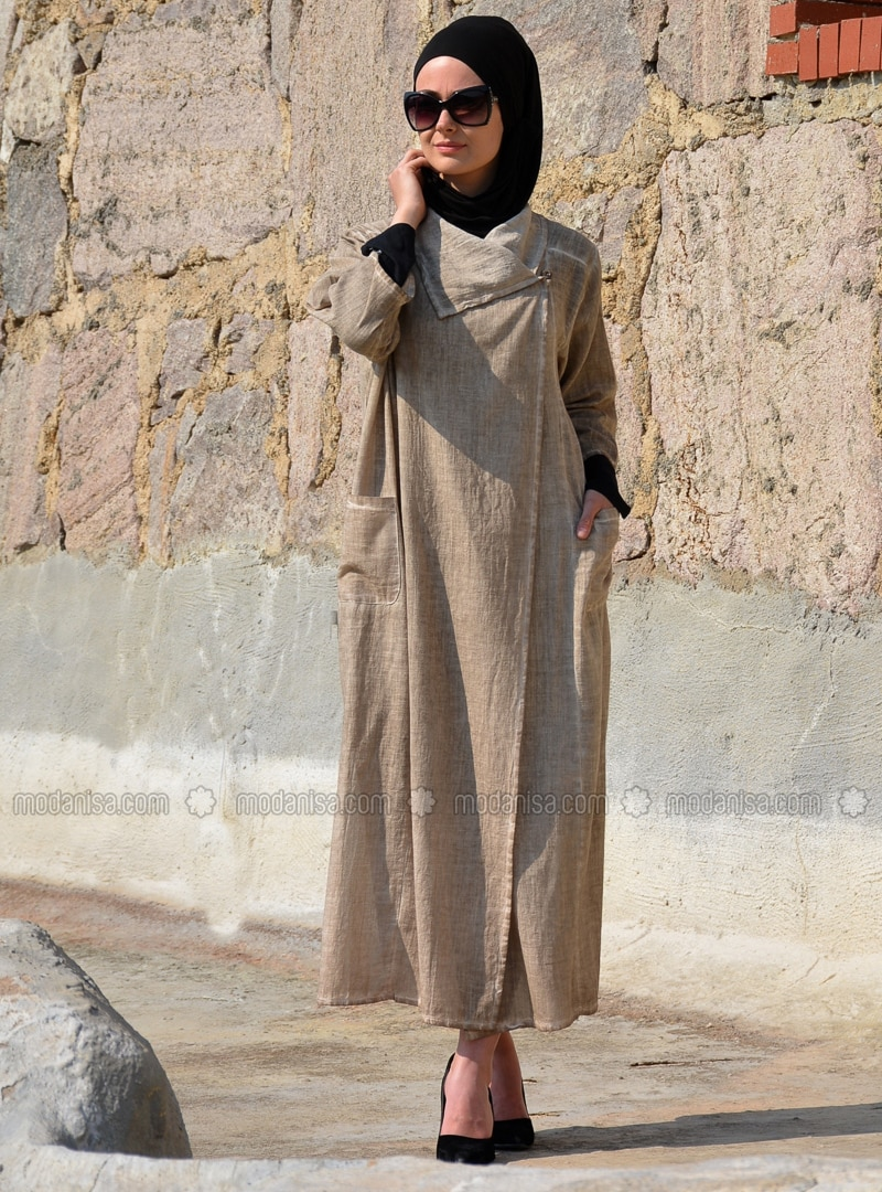 - Unlined - Cotton - Linen - Abaya