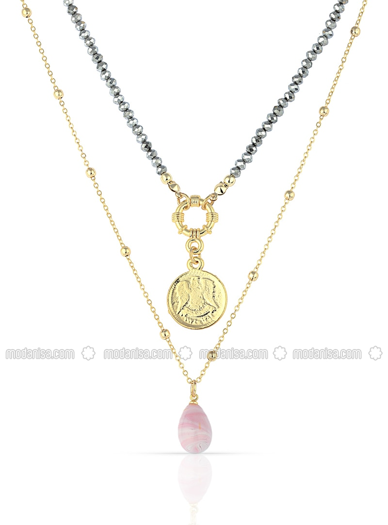 Pink - Multi - Necklace
