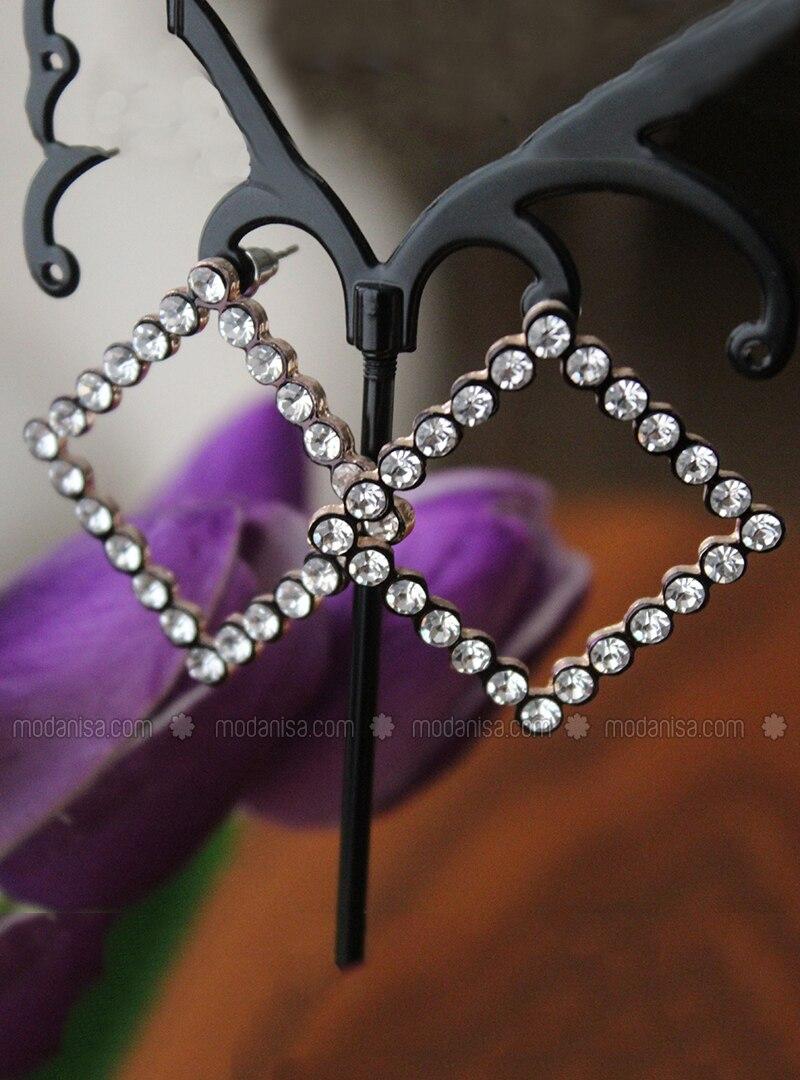 Black - Rose - Earring