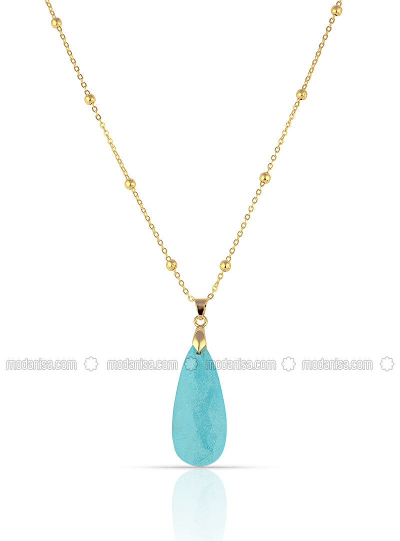 Multi - Turquoise - Necklace