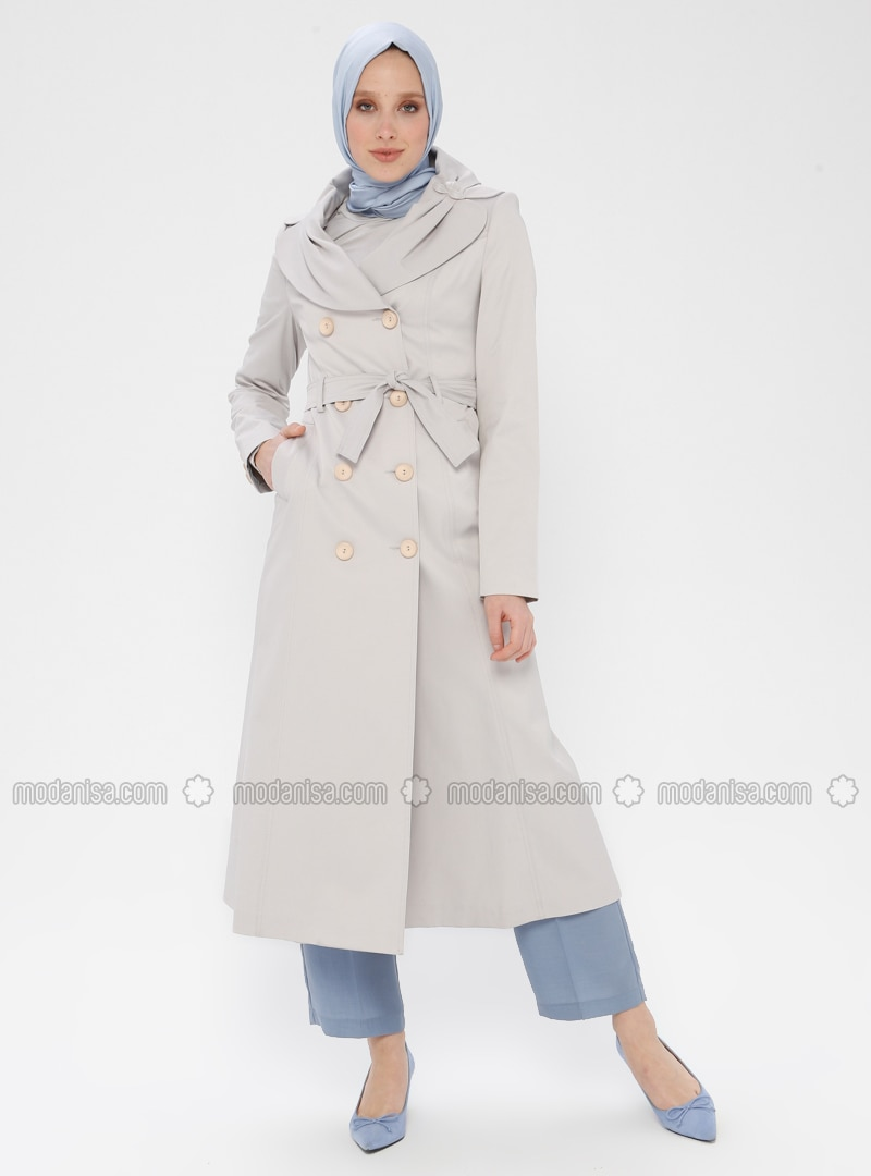 - Fully Lined - Shawl Collar - Trench Coat