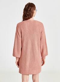 Pink - Printed - Cardigan