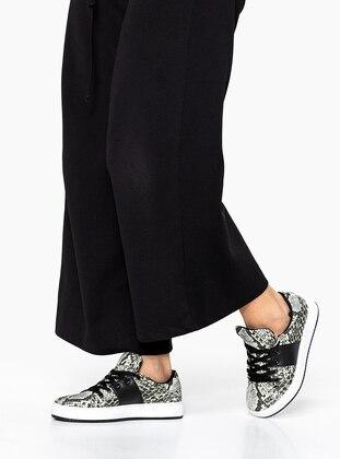 Black - Sport - Flat Shoes