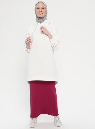 Plum - Unlined - Viscose - Skirt