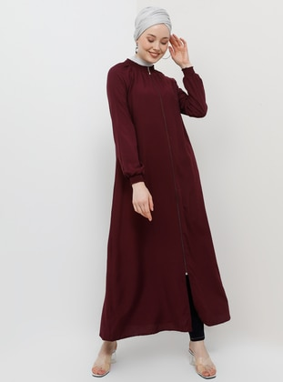 5cc2346021b Plum - Unlined - Crew neck - Viscose - Abaya