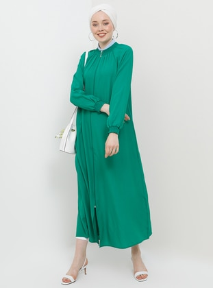 Emerald - Unlined - Crew neck - Viscose - Abaya