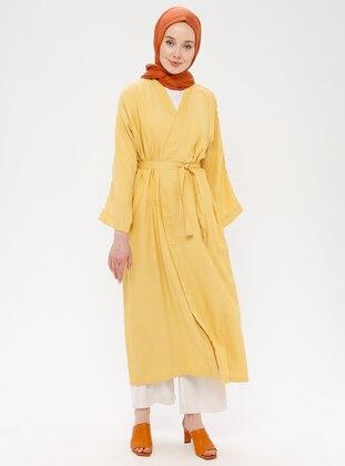 Yellow - Unlined - Abaya